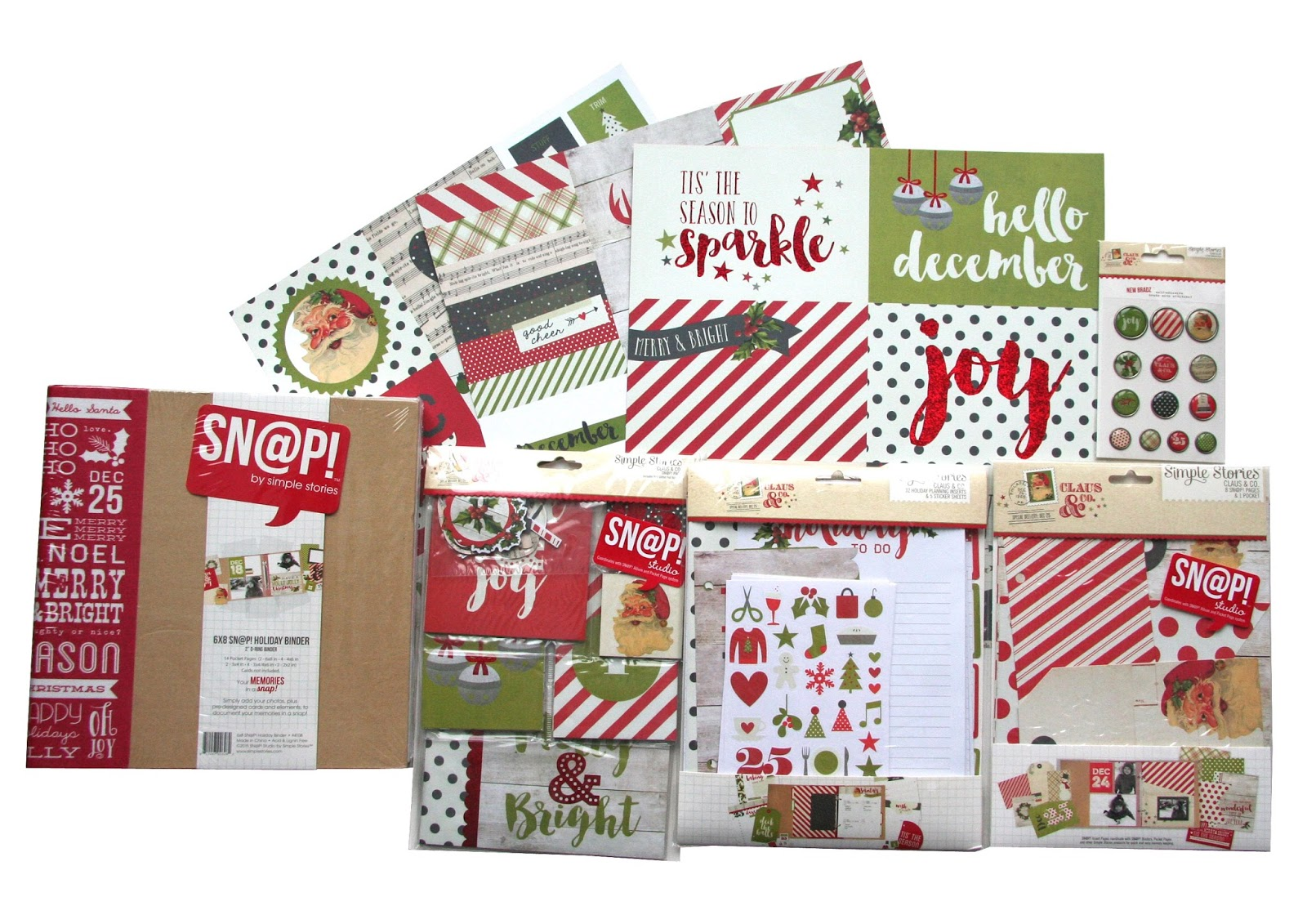 All Scrapbook Steals The Blog Contest Simple Stories Claus And Co