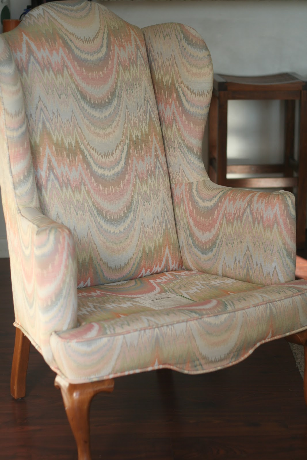 Curved back slipcovers for wingback chairs