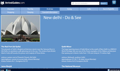 Arrival Guides to Go Travel Guide App Review Intel New Delhi Guide