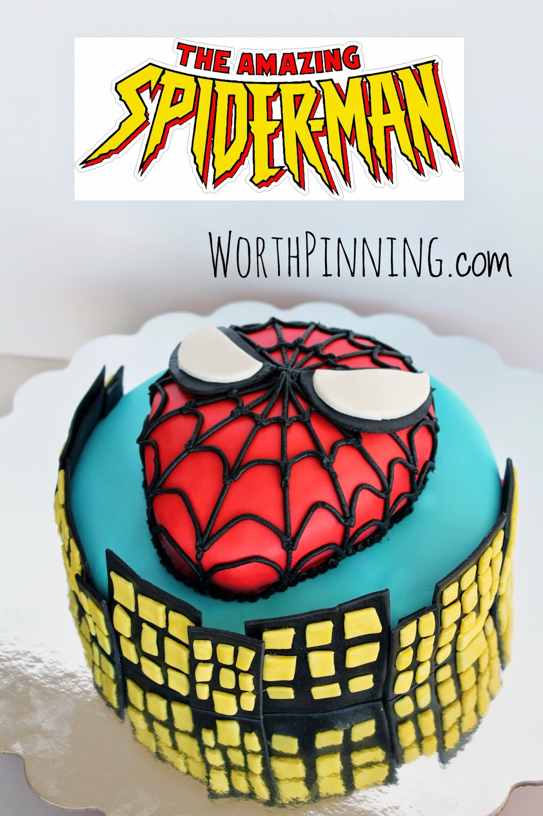 An Amazing 7 Year Old Boy Spider Man Cake