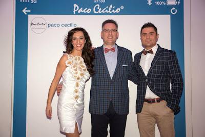 Paco Cecilio con los presentadores, Marisa Páramo y Alfonso Merlos