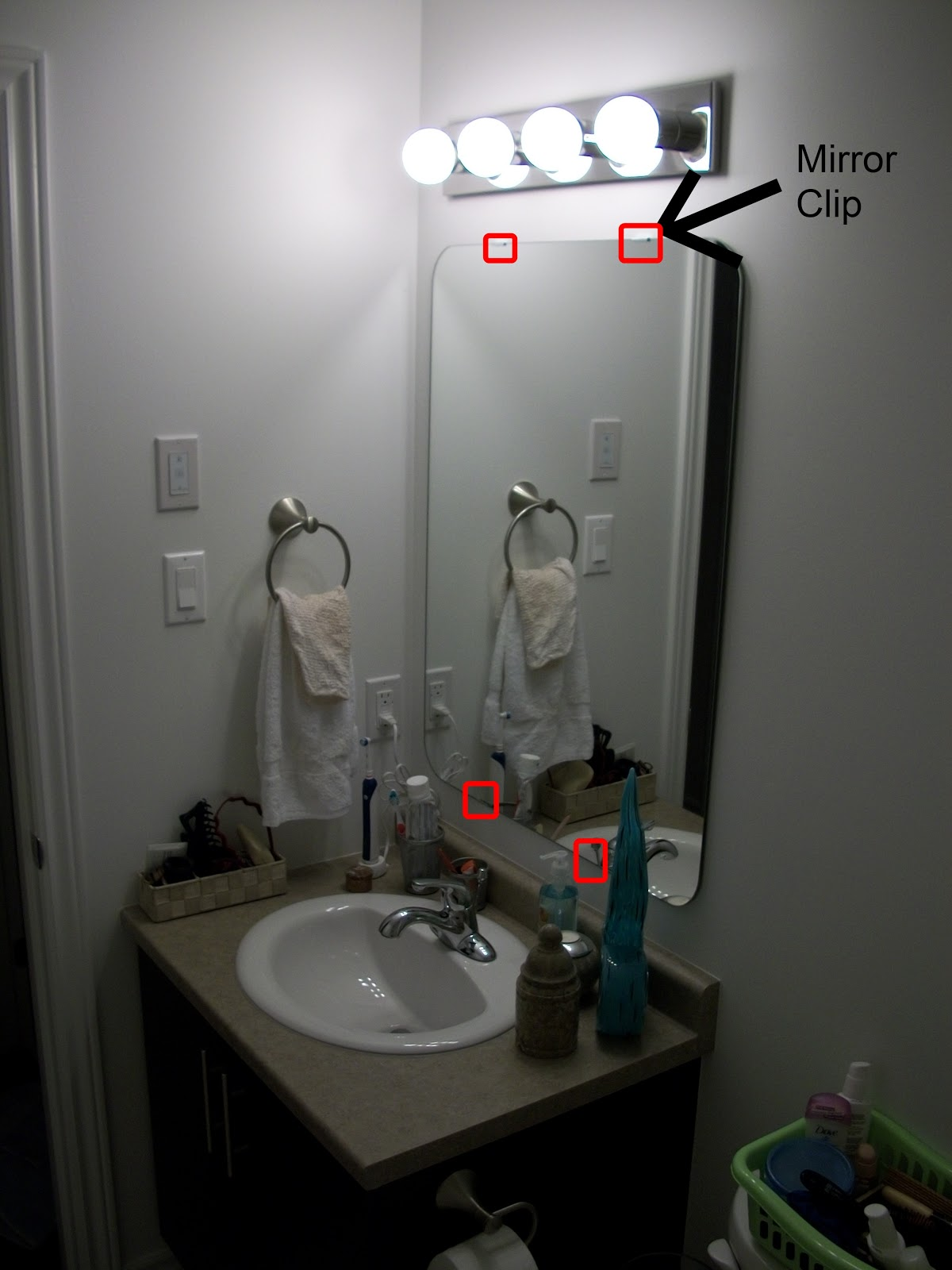 Live from b5 how to remove a glued on mirror the mirror was glued to the wall who does that we were not impressed i researched quite a bit thanks google on how to remove a glued on mirror amipublicfo Gallery