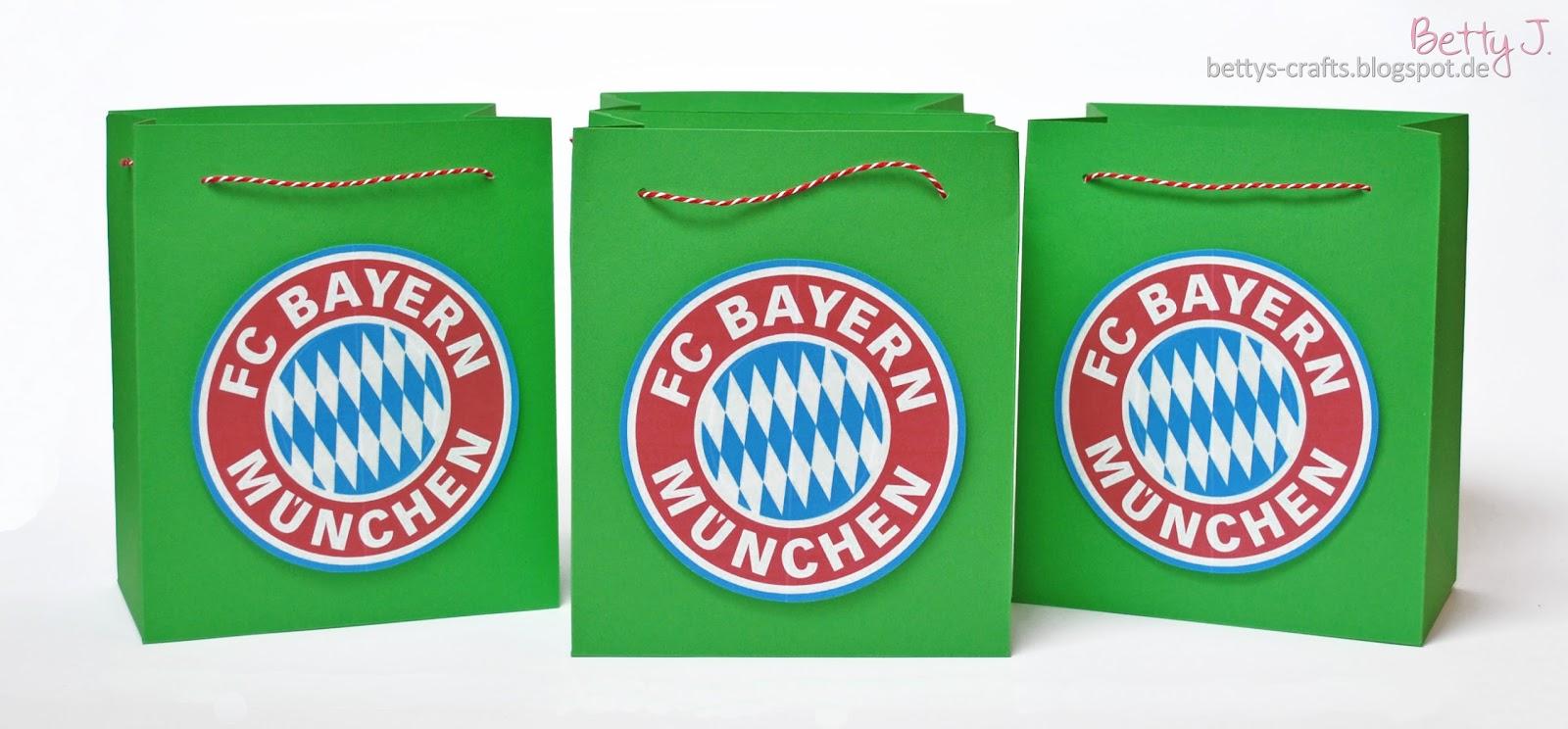 bettys crafts: bayern münchen geschenktüte für kindergeburtstag