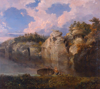 William Turner - A calm scene of Plumpton Rocks,1798.