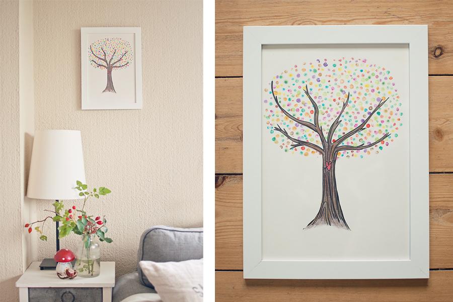 liebenswertes chaos verr ckter familienalltag diy herbstb umchen f r die wand. Black Bedroom Furniture Sets. Home Design Ideas