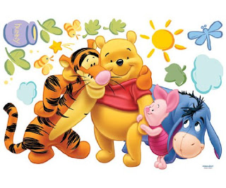 Fabulous Wall Decals for Nursery Decorating Classic Winnie the Pooh Wall Decals