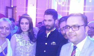 Shahid Kapoor and Mira Rajput Wedding Reception