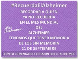 CAMPAÑA #RecuerdaElAlzheimer