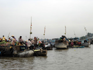 Boats at Floating Market - Can Tho - Vietnam