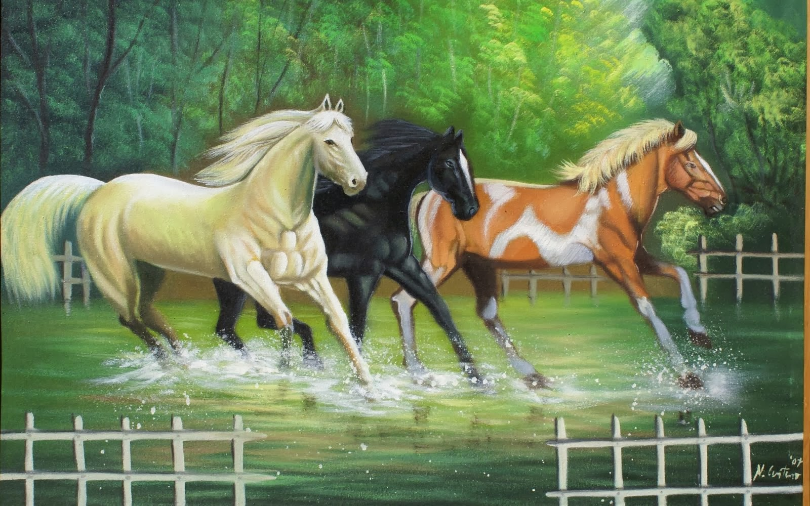 Download   Wallpaper Horse Couple - painting+wallpaper+(27)  Snapshot_447988.jpg