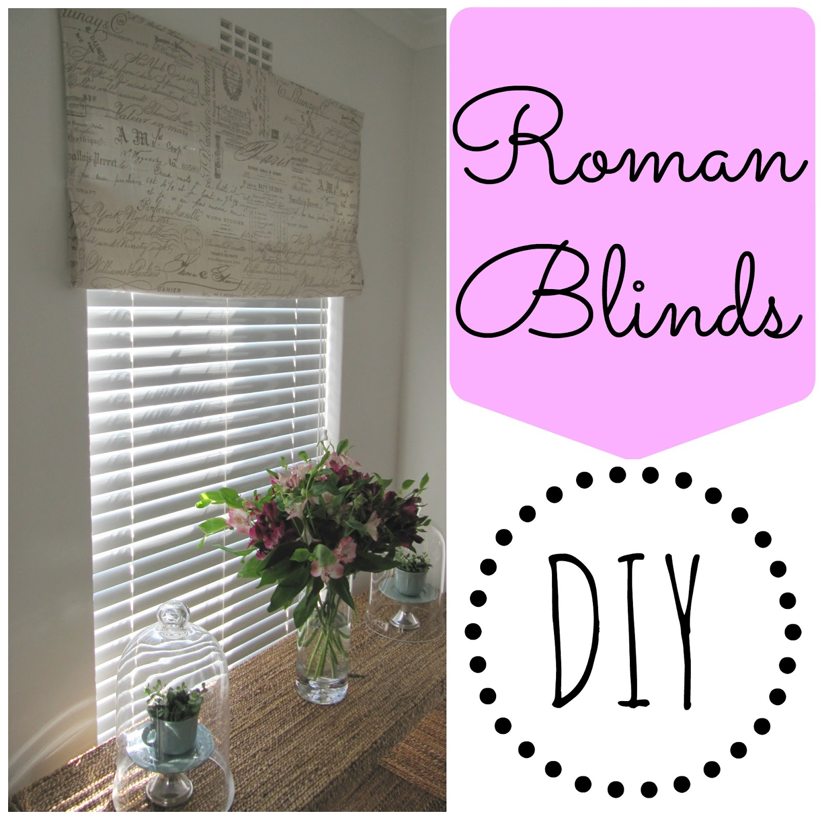 Roman Blind Diy Couches And Cupcakes Diy Faux Roman Blind