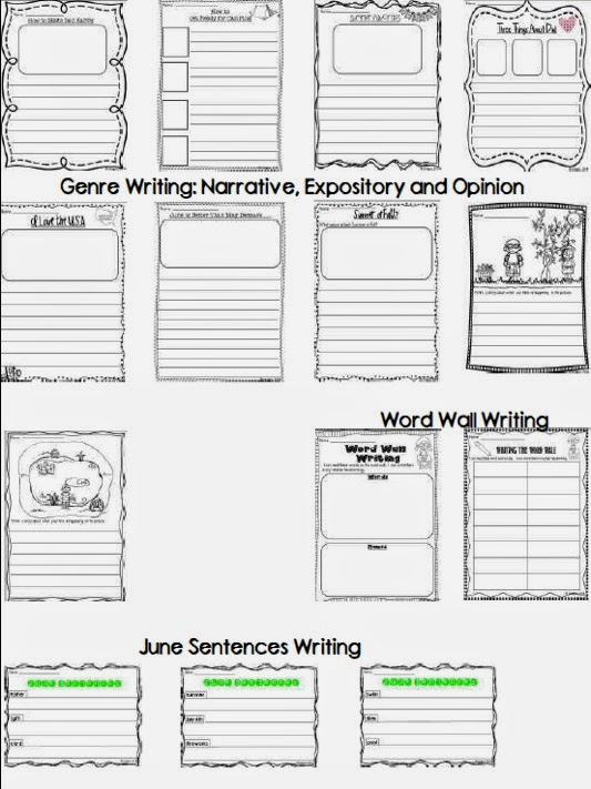 http://www.teacherspayteachers.com/Product/Lets-Work-on-Writing-June-1232554