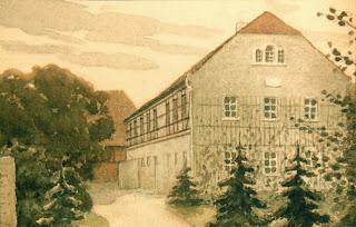 R. Rehm, Aquarell - Das Lohengrinhaus 1907
