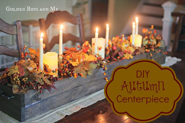 DIY autumn centerpiece-www.goldenboysandme.com