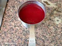 salsa de frambuesas