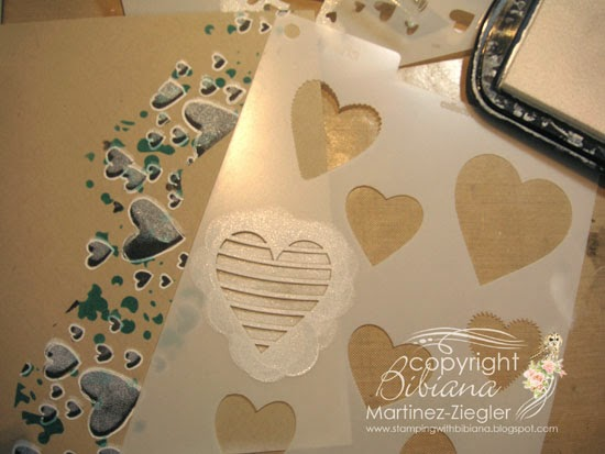 masculine card with stencils step two