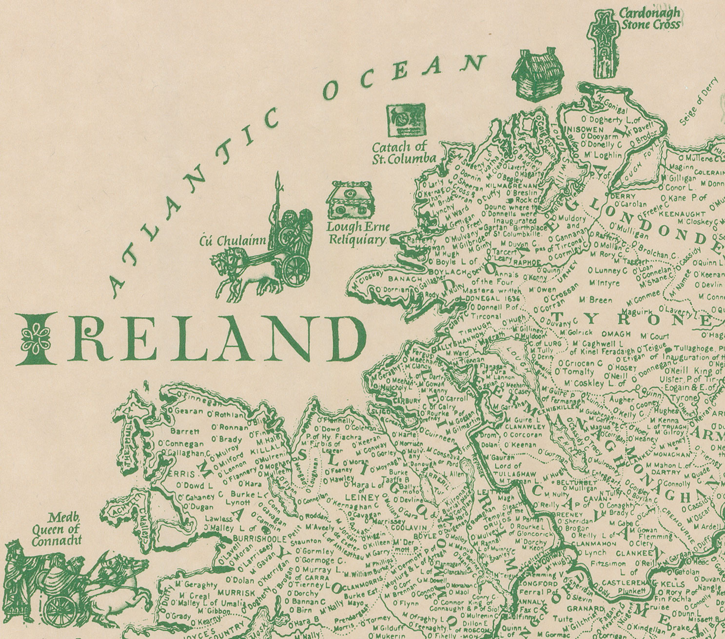 there are other websites for ireland maps i ve yet to discover not to mention searching on ebay or other sites for old maps this is one i found at a swap