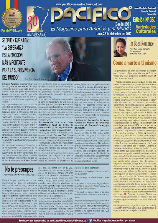 Revista Pacífico Nº 360 Variedades Culturales