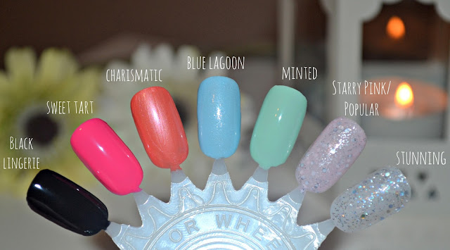 photo of nail varnish swatches color colour