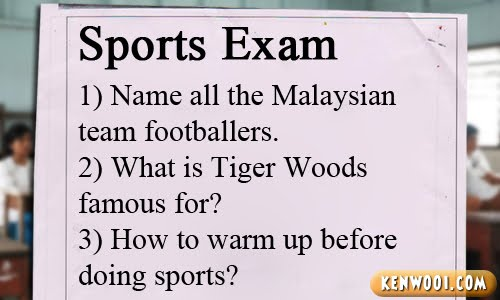 sports exam paper