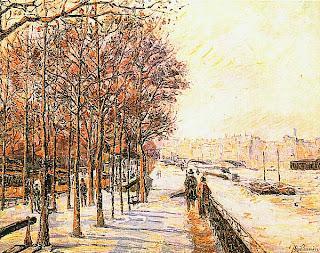 Арман Гийомен. Набережная де ля Гар в снегу. Ок. 1873.
