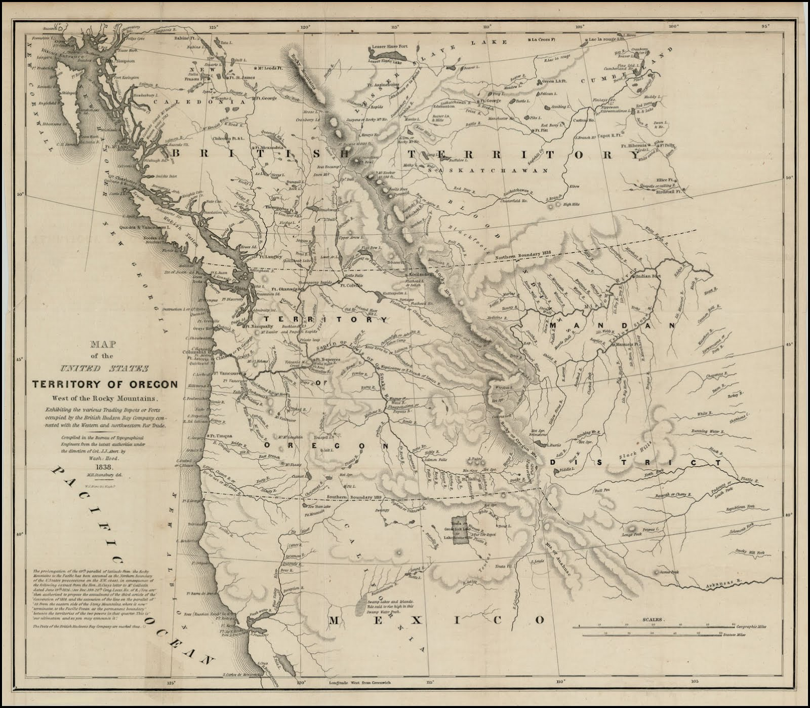 Aug Oregon Country Is Divided Between The United States - Map of north western us