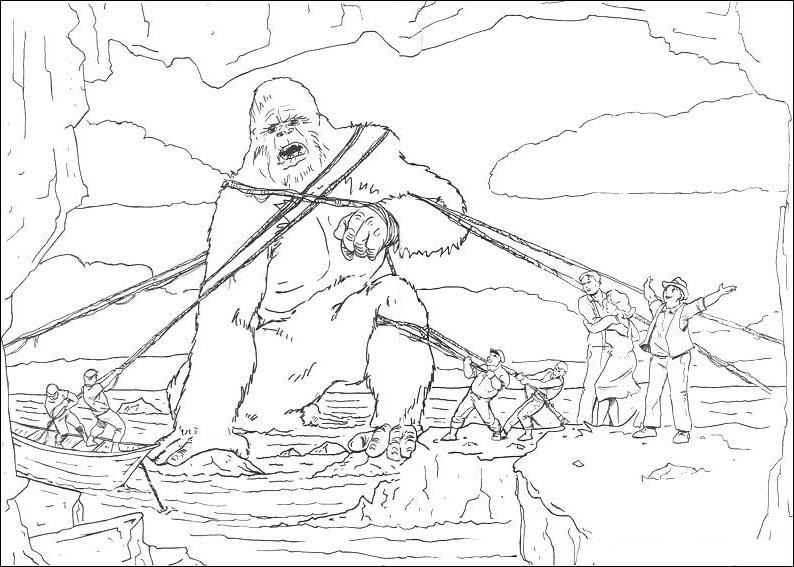 King Kong Buildings Coloring Coloring Pages King Kong Coloring Pages