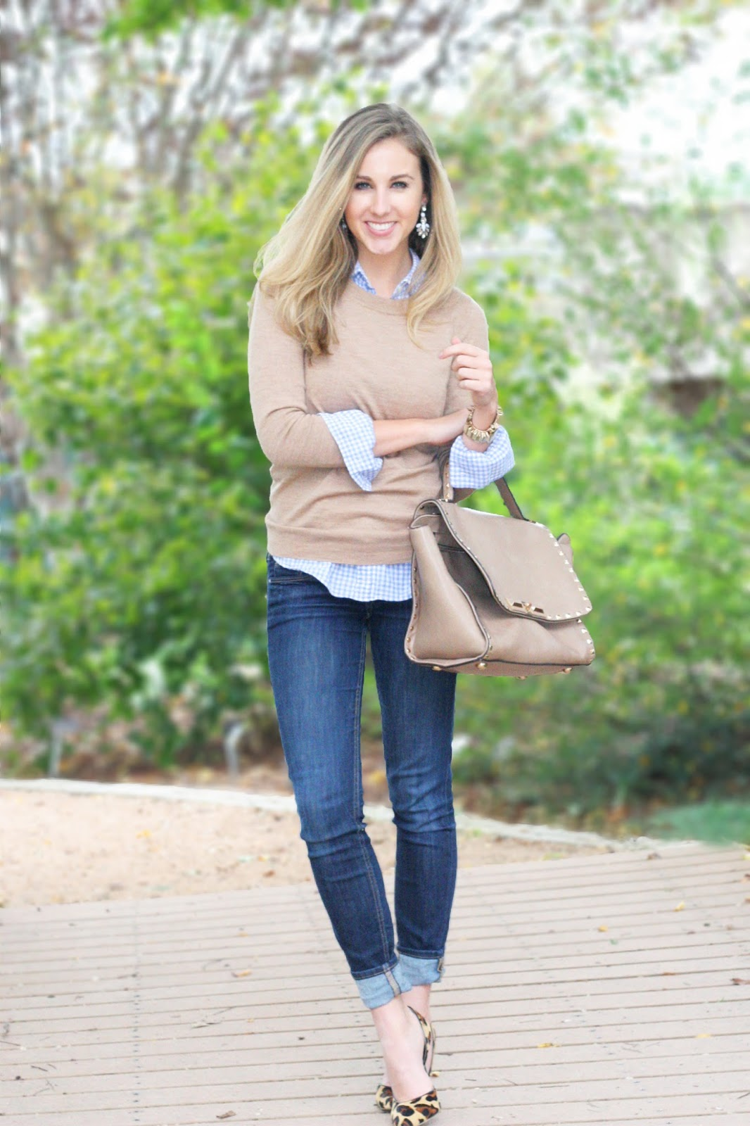 Simple-fall-layers-classic-tan-jcrew-sweater-and-button-up