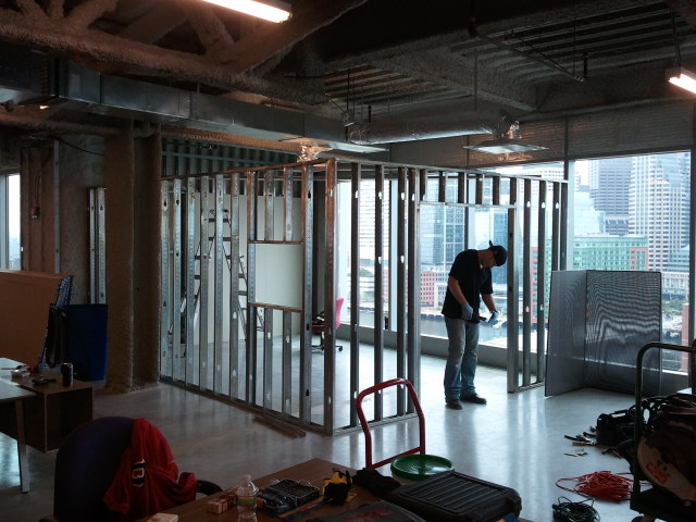 here we metal framed up the shap to the video studio build video studio