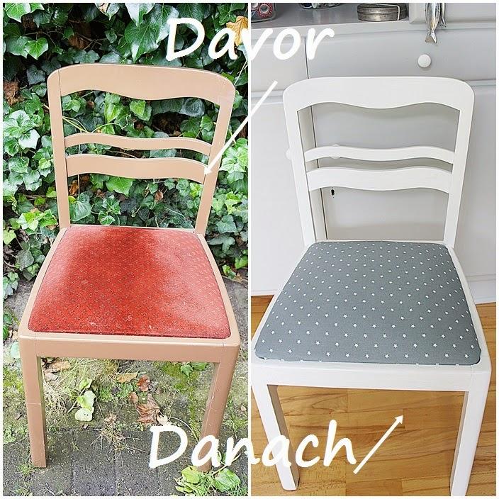 smillas wohngef hl diy alter stuhl in neuem look. Black Bedroom Furniture Sets. Home Design Ideas