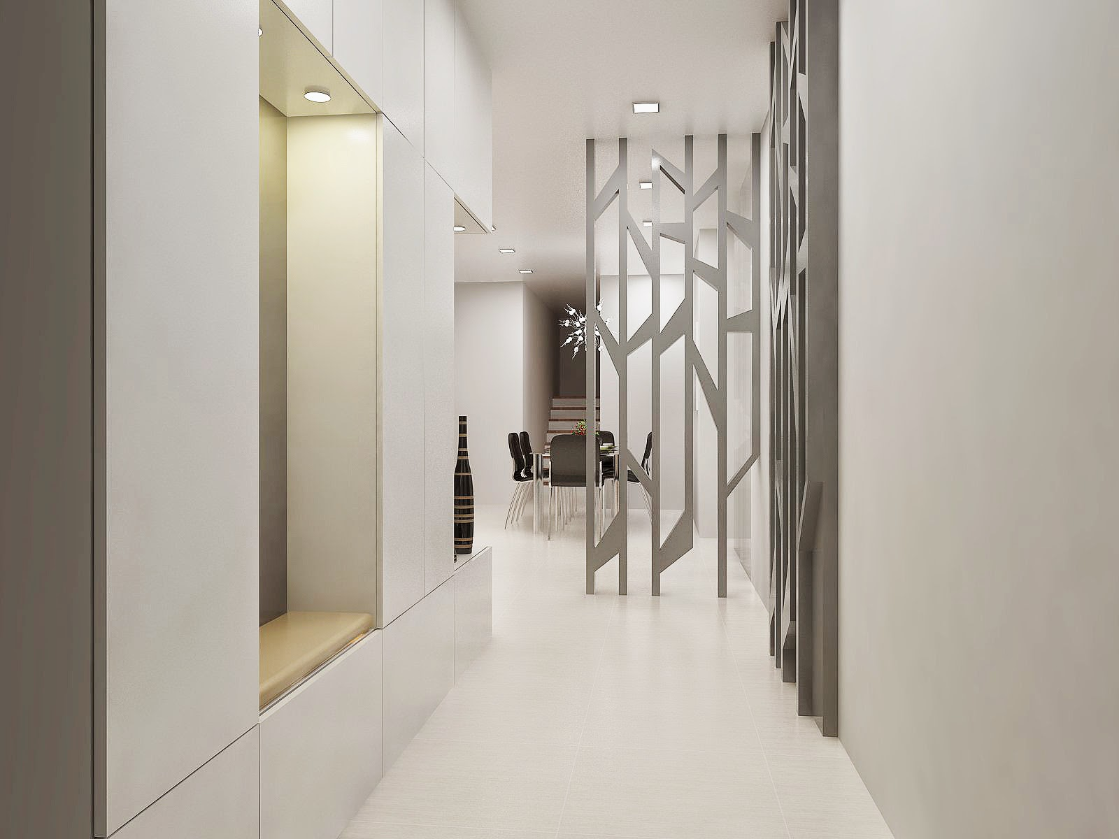 freelance interior designer.sg: penthouse house living and foyer