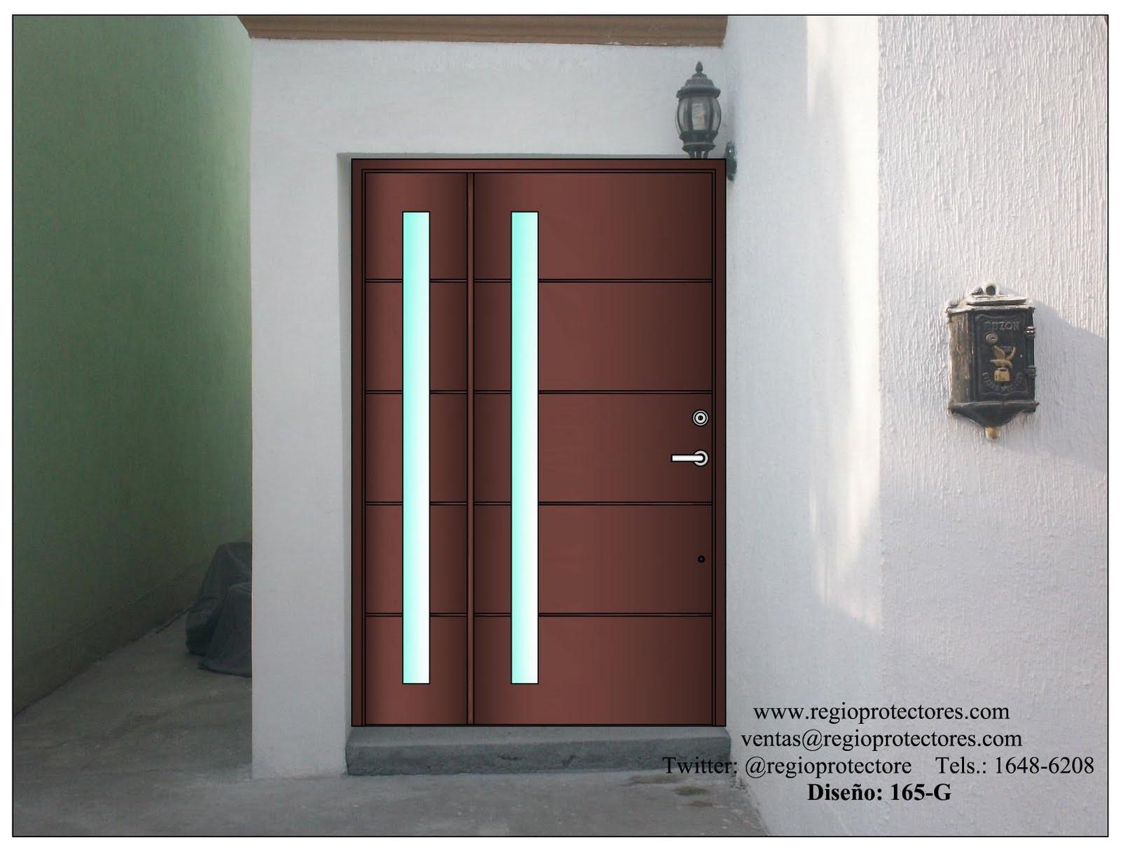 Diseño de puerta contemporánea Fracc.Ex Hacienda el Rosario, Opción