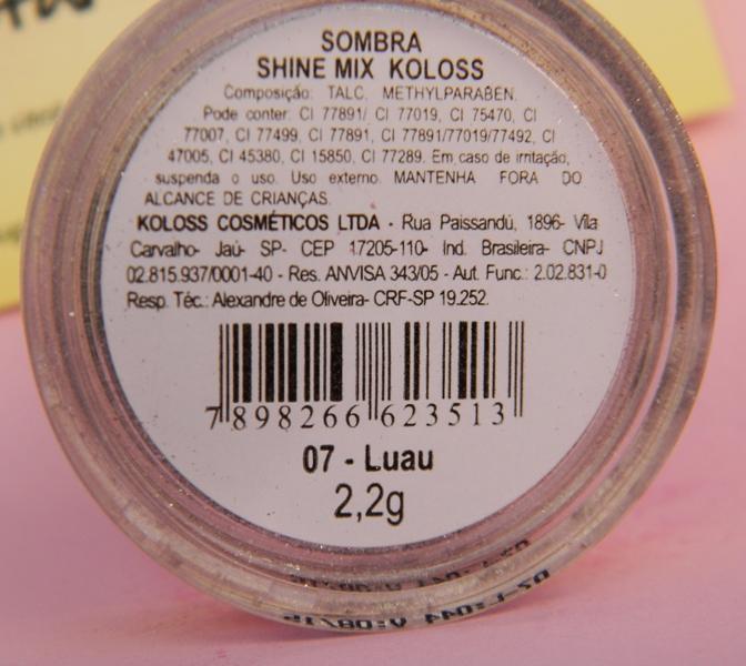 sombra shine mix Koloss luau