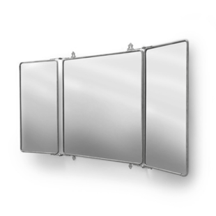 Waterworks Daphne Metal Rectangular Trifold Mirror