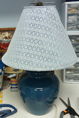 Lamp shade before trim