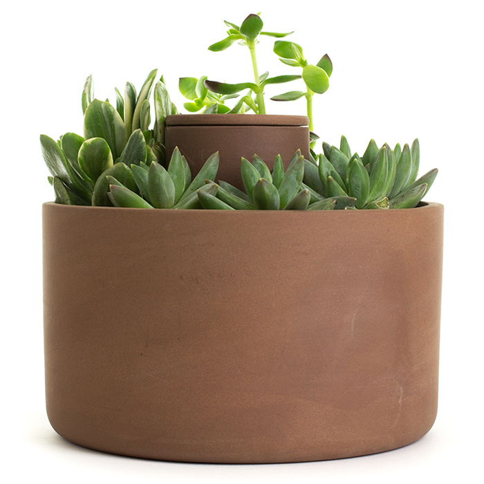 Self Watering Terracotta Planter Poppytalk
