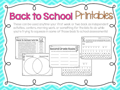 First Day Of School Activities For First Grade