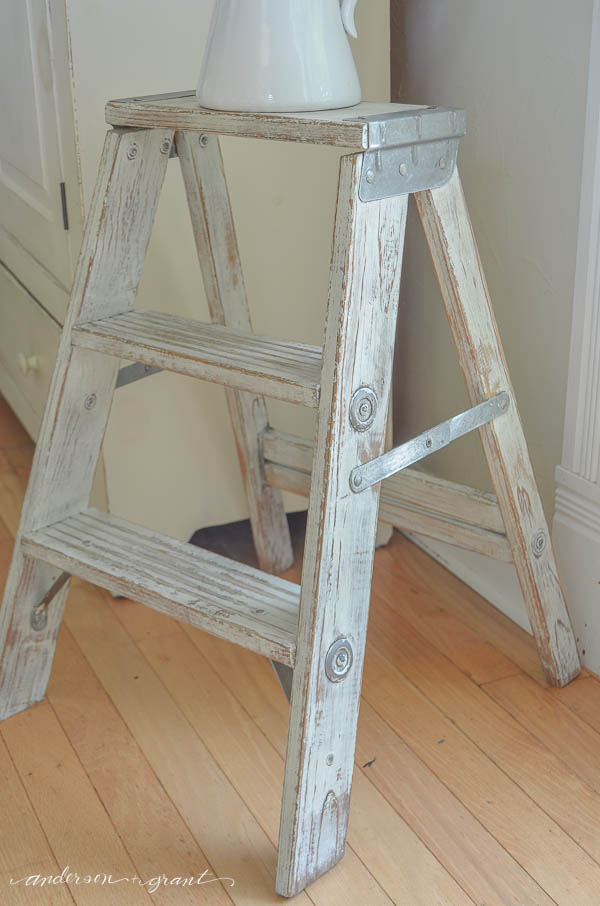 Distressed Mint Step Ladder
