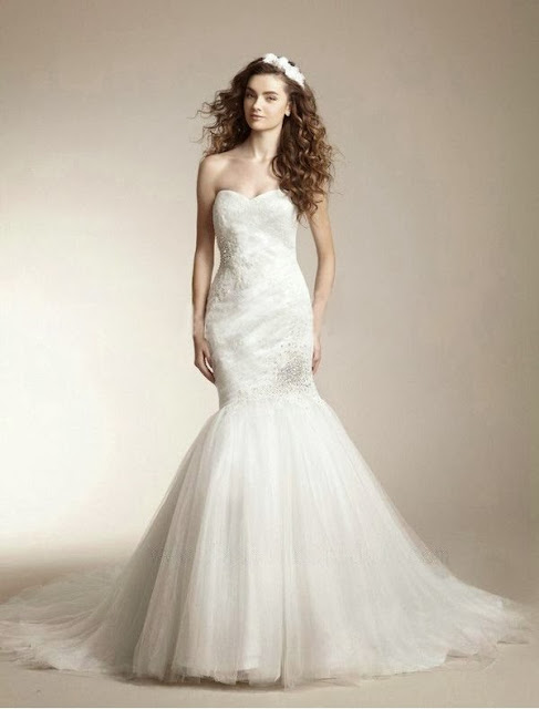 netting wedding dress