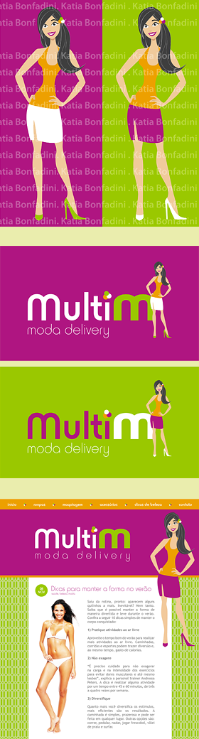 Criação de Personagem + Identidade Visual para a marca MULTI M