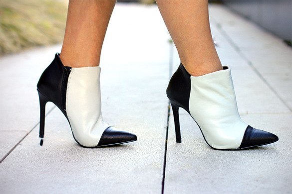 ShoeMint Jane two tone booties