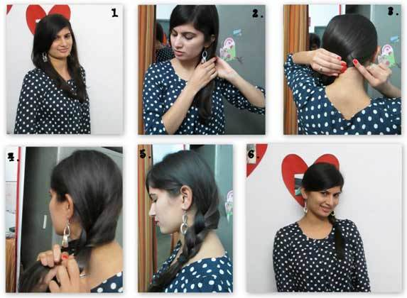 Simple braid at the side of your head