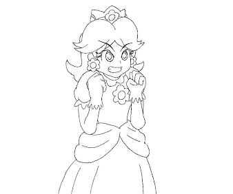 #10 Princess Daisy Coloring Page