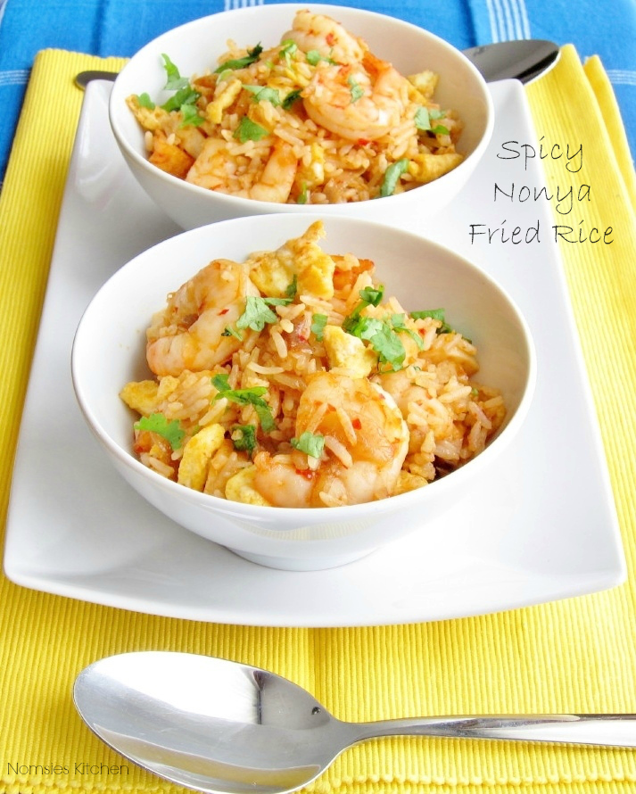 Spicy Nonya Fried Rice Recipe from Nomsies Kitchen