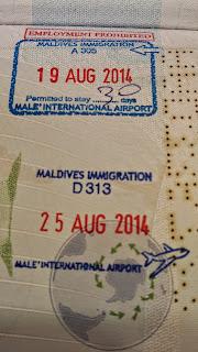 Sellos de Maldivas en el Pasaporte