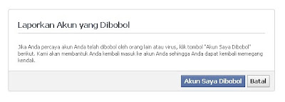 cara mengembalikan akun facebook yang dihack/dibajak