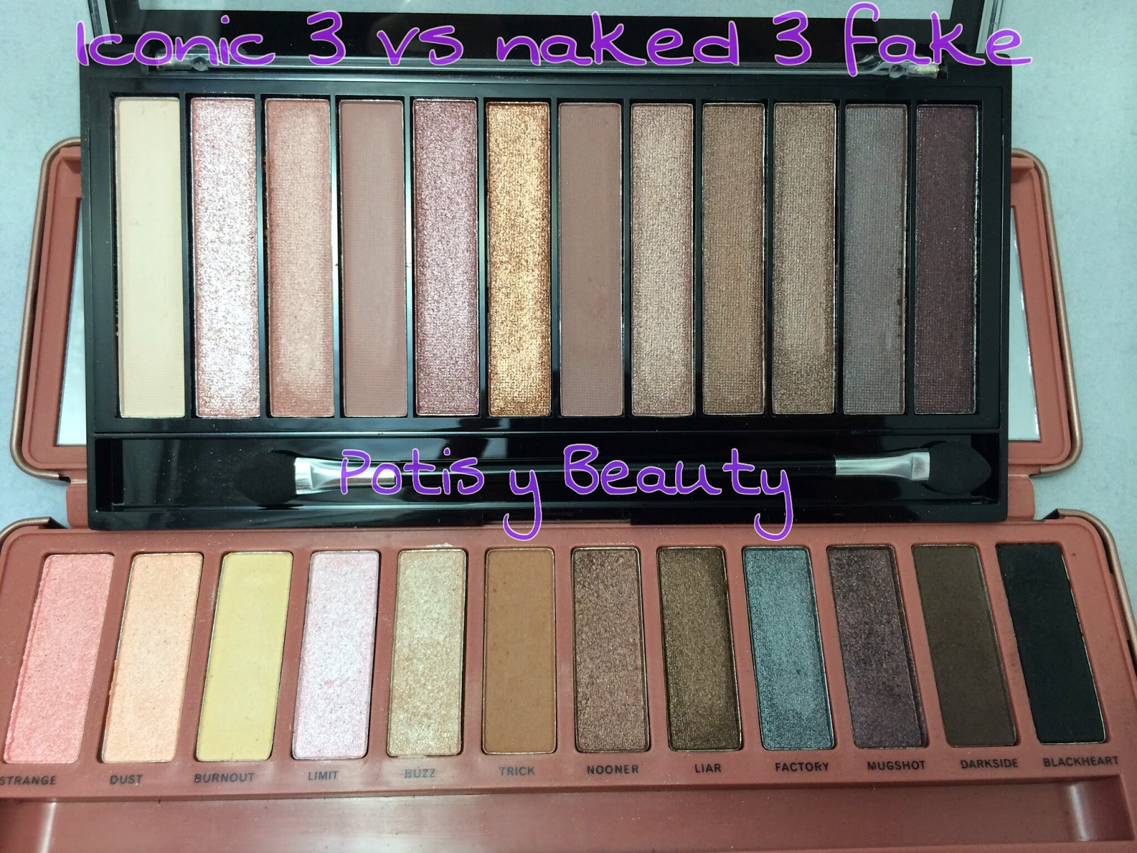 Comparativa iconic 3 vs naked 3 fake