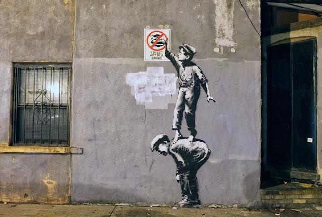 Street art ( Arte das ruas ) Por Banksy