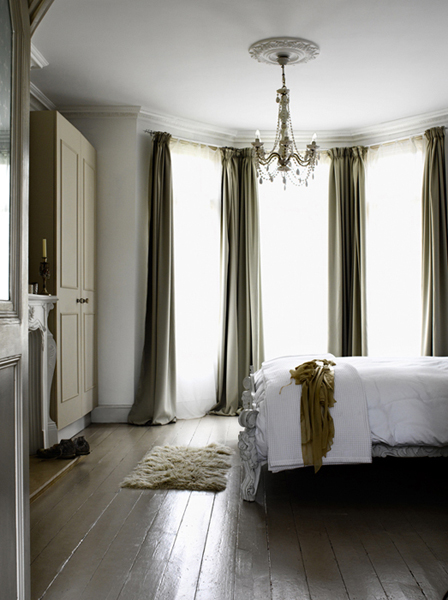 Modern country style modern country edwardian house tour - Modern bay window curtains ...