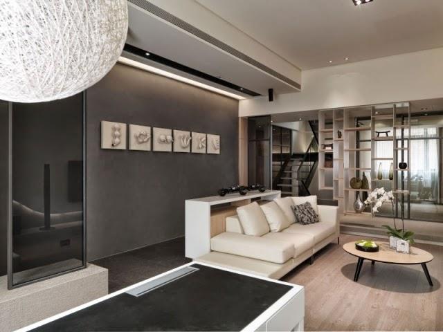 Lindas salas en color gris y blanco colores en casa - Decoracion salon gris y blanco ...